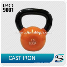 Vinyl dipping kettlebells with custom logo