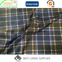 100 Polyester Big Check Lining Print Check Lining for Winter Coat