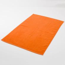 Alfombra de baño de color naranja de lujo