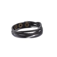Hot Sale Western Vingate Fabriqué en cuir de vachette en bronze plaqué Bracelet Fashion Jewelry