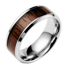Мода Титана Покрытием Из Дерева Пустой Кольцо Для Инкрустации