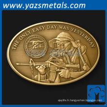 personnaliser des pièces de monnaie, métaux personnalisés ovale Nay Seal challenge coin