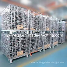 Workshop Transfer Folding Storage Wire Mesh Turnover Container