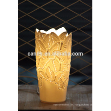 Lámpara de mesa de porcelana artesanal