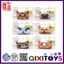Милый творческий 3D последний плюшевых животных карандаш Сумка плюшевые игрушки монет Сумка для хранения портативный карманный квадратная Коробка подарка детей