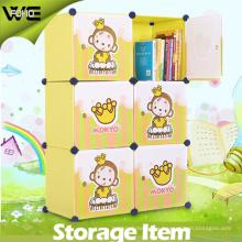 El sistema al por mayor del organizador del juguete arropa los gabinetes de almacenamiento el armario plástico de los niños