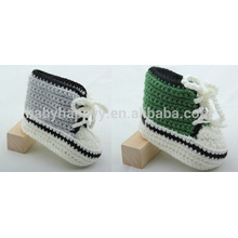 Hot selling baby purple handmade crochet wool shoes