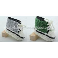 Горячая продавая пурпуровая ручная обувь ручной работы вязания крючком