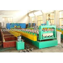 Máquina formadora de deck de metal em estrutura de aço