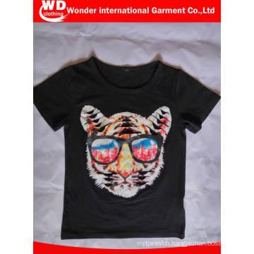Black Fashion Printed Hot Wholesale Summer Children T Shirt