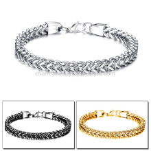2015 new personalized gift three color options Men's charismatic personality titanium steel bracelet GS671