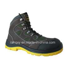 New Style Crazy Horse Leather Safety Shoes (HQ08002)
