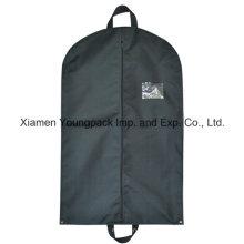 Custom preto não tecido tecido cobrir saco de vestuário