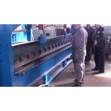 Máquina de corte y doblado de chapa horizontal de 4 metros.