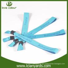 Hochwertige Polyester-Festival-Förderung verwenden gewebtes Wristband mit Verschluss