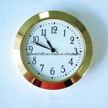 El reloj de cuarzo promocional inserta números arábigos con tono dorado