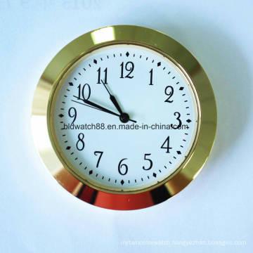 Promotional Quartz Clock Inserts Arabic Numbers Face Gold Tone