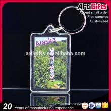 Porte-clés acrylique fabricant pas cher forme personnalisée acrylique porte-clé