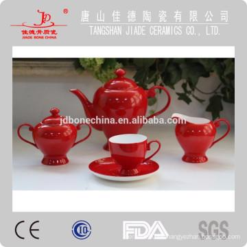 Conjunto de café de china de hueso fino taza de té de plata y platillo de café de esmalte de esmalte de pulverización conjunto