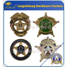 Insigne étoile de shérif militaire en vrac de l'effet 3D
