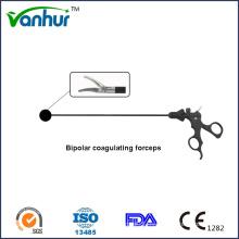 Instrumentos quirúrgicos Laparoscópico de una sola acción bipolar Coagulante Maryland fórceps
