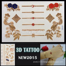 OEM gros 3D tatouage temporaire tatouage excellent design pour adulte nouveau style de tatouage 3D YH 022