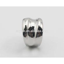 Pulseira de jóias de prata brilhante 316L Anel de casamento de aço inoxidável