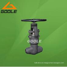 Válvula de globo de acero compacta con sello de presión soldado por cubo (GAJ61Y)