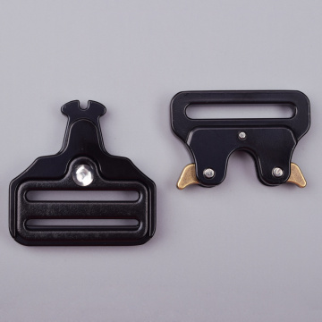 38mm Heavy Duty 300KG Steel Black Electrophoresis Pull Clasp Belt Buckle Cobra Buckle