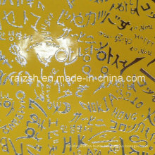 Metal Bronzing PU Leather Fabric for Textile / Bag