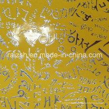 Metal Bronze PU tecido de couro para têxtil / saco