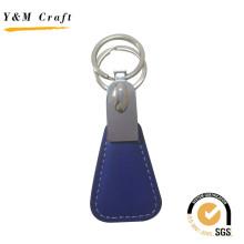 Anel chave do metal do couro do plutônio de Compectitive feito sob encomenda para a promoção