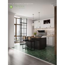 Cor moderna do branco do conjunto completo da sala da cozinha