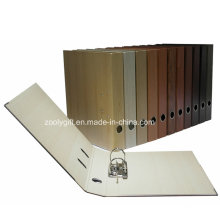 A4 Wooden Pattern Printing Paper Lever Arch File Folder