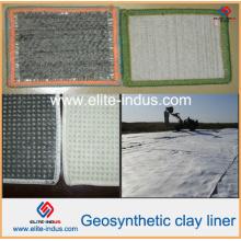 Forro de argila geossintético de bentoite para impermeabilização