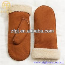 Customized fashion Warm Double Face Sheepskin Glove