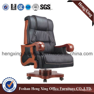 Wooden High Back Leather Executive Boss Office Chair (HX-CR051)