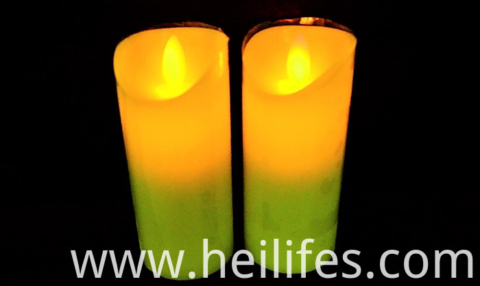 Yellow LED candle