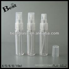 4/5/6/8/10 ml, en plastique brouillard pulvérisateur bouteille / lotion pompe, pet / pp en plastique shampooing bouteille lotion pompe