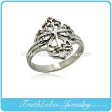Высокое качество титана стали ювелирные изделия религиозные христианство Иисус крест унисекс палец кольцо дизайн для День святого Валентина подарок