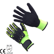 NMSAFETY 13 knit HPPE liner anti-impact cut resistant mechanical tactical gloves