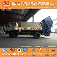 DONGFENG 4x2 10m3 rear loading refuse truck 170hp hot sale for export