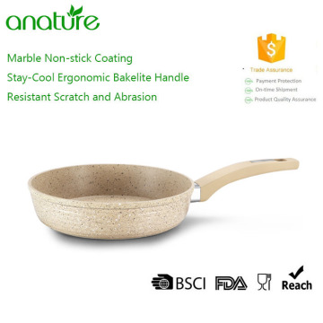 Yellow Forged Marble Nonstick Coating Frying Pan