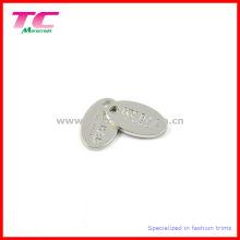 Kundenspezifisches glänzendes silbernes gestempeltes graviertes Metallumbau