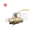 lead free 600WOG solder end brass ball valve