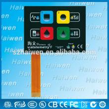 Commutateur à membrane à bouton-poussoir gaufré à LED