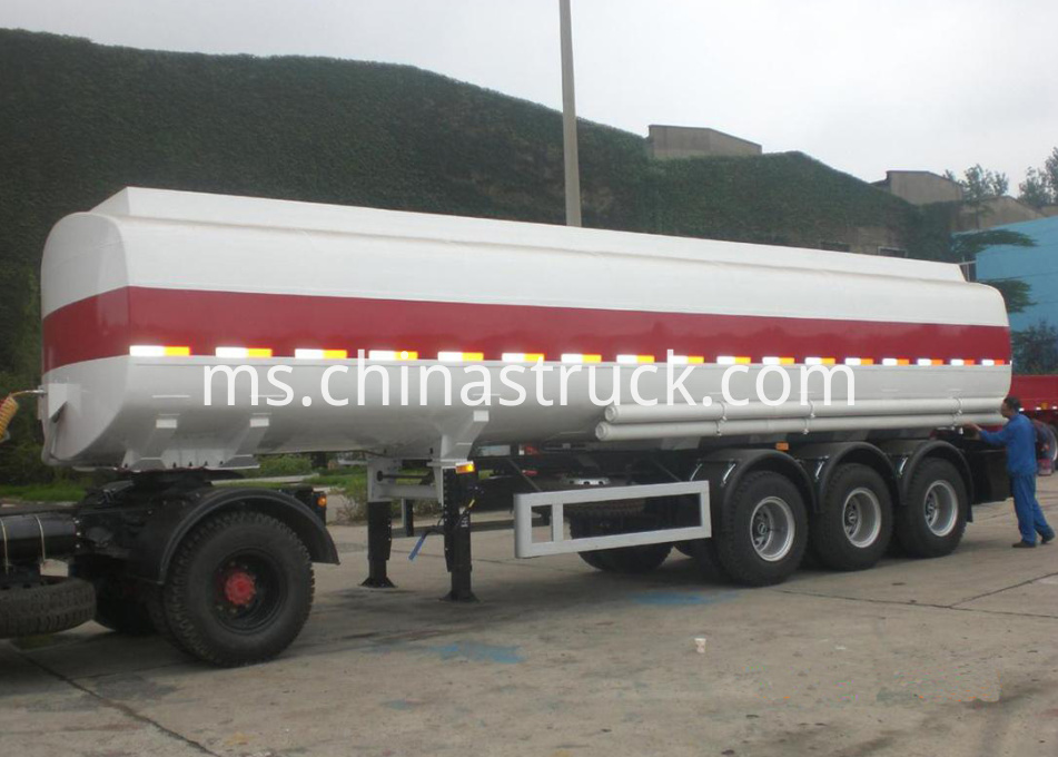 3 axle 38000 liters oil tanker semi-trailer