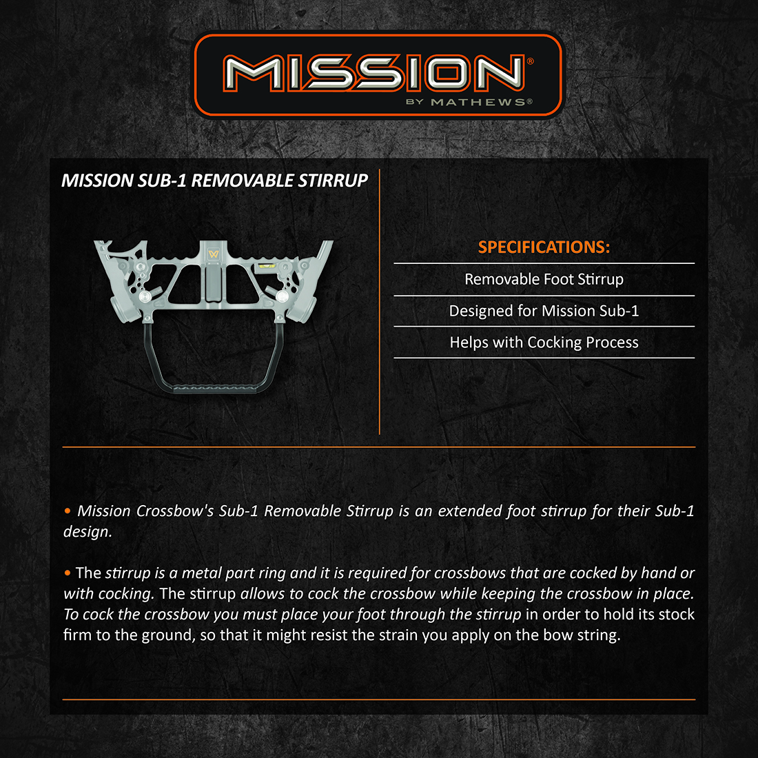 Mission_Sub1_Removable_Stirrup_Product_Description
