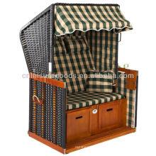 Vente chaude en osier chaise de plage personnalisée