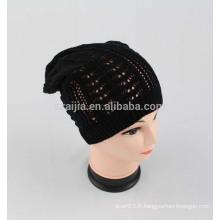 Nouveau chapeau beanie tricot en acrylique